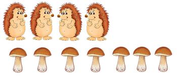 много, грибы картинки счетный материал можно для каждого